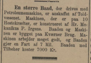 1895 Dagbladet - 2. august Paul Irgens